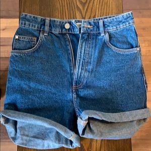 Zara High Waister Denim Short